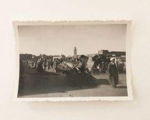 Photo vintage la place Jemaa el Fna 1934 Marrakech