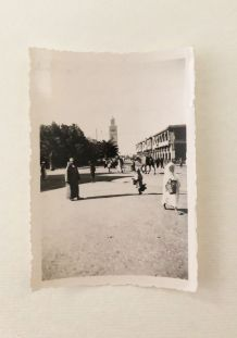 Photo vintage Marrakech vue de la Koutoubia 1934
