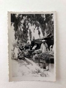 Photo vintage le souk Marrakech 1940