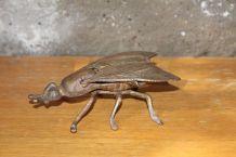 Cendrier mouche en bronze