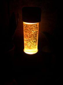 Lampe paillettes année 60