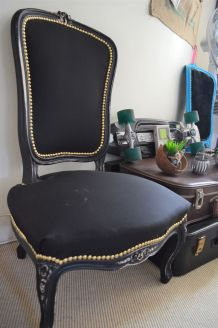Chaise Louis Philippe black & gold