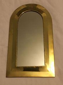 Miroir en laiton doré ethnique