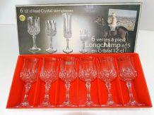 6 verre a pied n5 en cristal LONGCHAMP 12cl NEUFS cristal d
