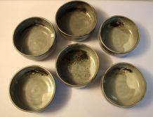 Lot de 6 bols en grès émaillé – années 70