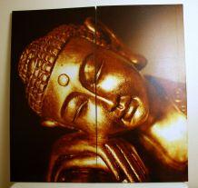 Lot 2 toiles imprimées sur cadre Boudha