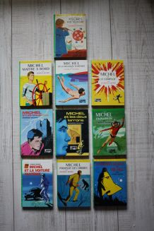 """Lot de 10 livres Bibliothèque Verte série """"Michel"""""""