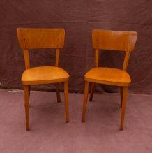Paire de chaises bistrot Thonet, années 50