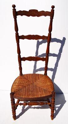 Chaise à nourrice paillée