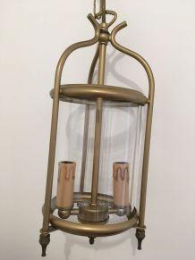 Lanterne lustre laiton