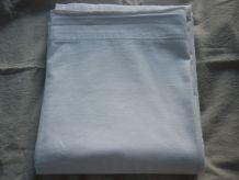 Ancien drap coton blanc ajouré 2m70x2m20