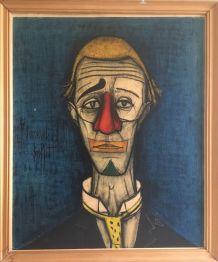 Tableau tête de clown de Bernard Buffet