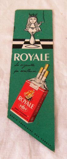 Marque pages vintage cigarettes royale ,gauloises