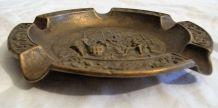 Cendrier vide poche bronze régule scène de vie mer