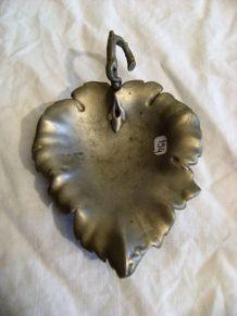 Cendrier vide poche style art déco en métal