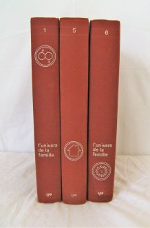 Lot de 3 volumes de L'univers de la famille
