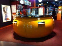 banque bar comptoir vintage loft piscine mobilier extérieur