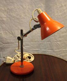 Lampe mini articulée vintage orange