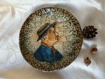 Assiette décorative en céramique, Assiette de collection.