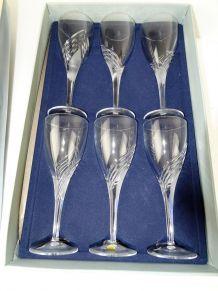 verre cristal DURAND MEGEVE 24cl neufs boite de 6 coupe