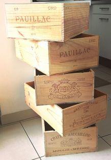 Caisses de vin vides (12 bouteilles)
