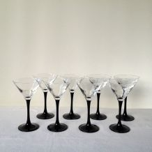 Lot de 8 coupes à champagne ou cocktail Luminarc