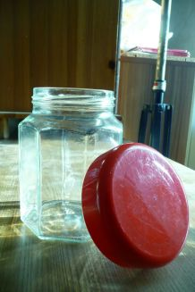 Pot bocal exagonal AMORA verre