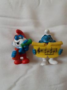 2 figurines Schtroumpfs 20038 et 20164