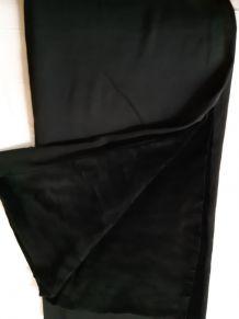 Coupon de tissu jersey velours noir longueur 1 mètre 60
