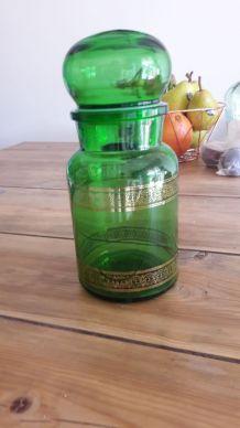 Magnifique bocal en verre avec dorures