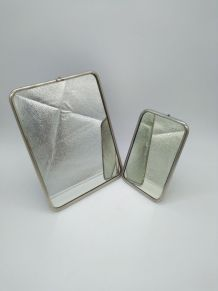 lot de 2 ancien miroirs de barbier
