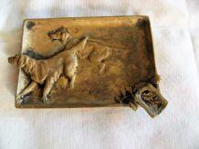 Vide poche cendrier bronze  doré numéroté