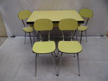 Table + 4 chaises formica 60