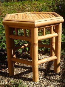 tabouret en bambou , vintage