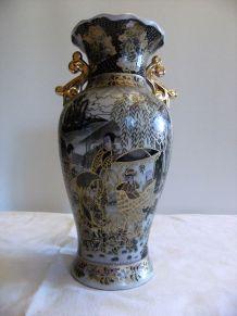 Vase cloisonné chinois motifs balade