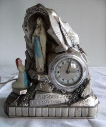 "Horloge lumineuse Lourdes ""l'apparition"""