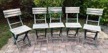 Lot de 5 chaises pliantes