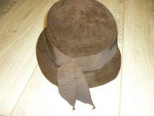 Vintage   Chapeau femme marron