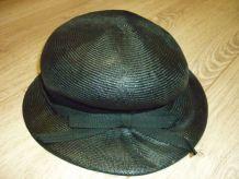 Chapeau femme noir   Vintage.