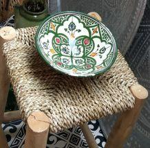 Bol ou petit saladier artisanal marocain vert