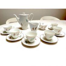 Service à café porcelaine polonaise 60's