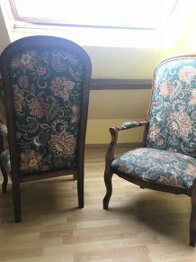 lot de 2 fauteuils Voltaire