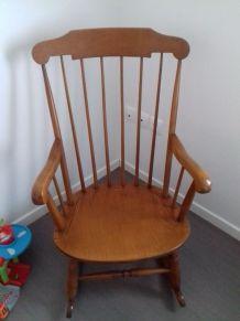 Rocking chair vintage stol année 1960