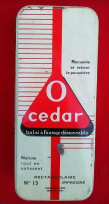 Jolie boite publicitaire en tôle O-Cedar n°13 (vide)