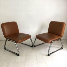 Paire de fauteuils vintage 70's