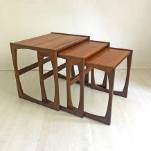 Tables gigognes scandinave vintage 60's en teck