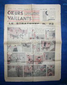 COEURS VAILLANTS N° 12 DU 20/03/1938 - LE STRATONEF H22
