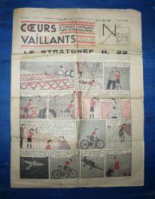 COEURS VAILLANTS N° 14 DU 03/04/1938 - LE STRATONEF H22
