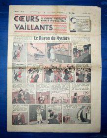 COEURS VAILLANTS N° 15 DU 11/04/1937 - LE RAYON DU MYSTERE