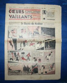 COEURS VAILLANTS N° 17 DU 25/04/1937 - LE RAYON DU MYSTERE